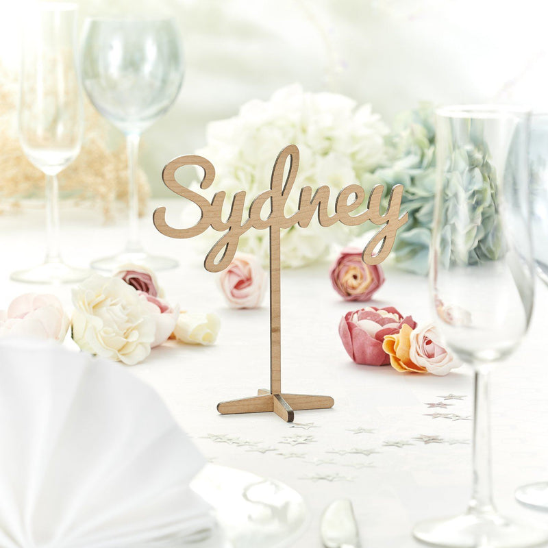 Table Numbers And Names - Rustic Wooden Wedding Table Names