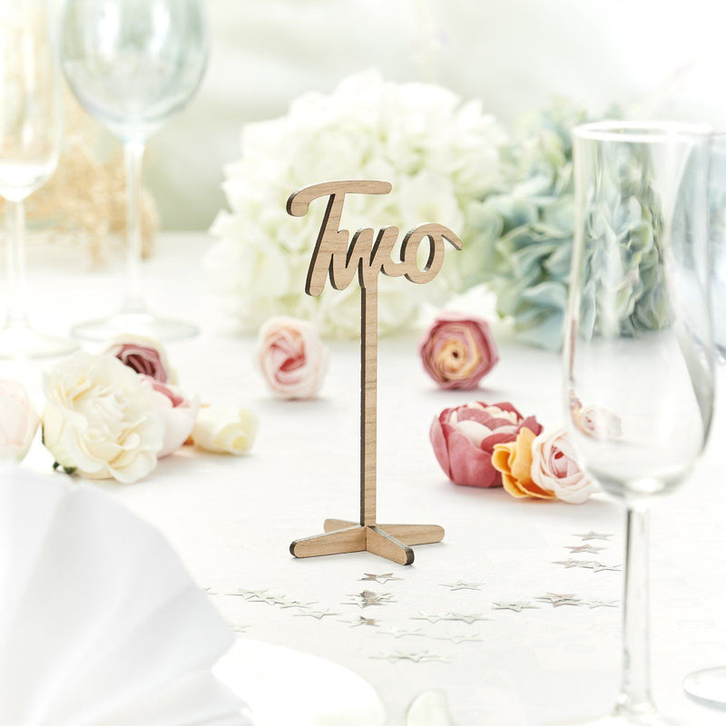Table Numbers And Names - Rustic Wooden Wedding Table Numbers In Words