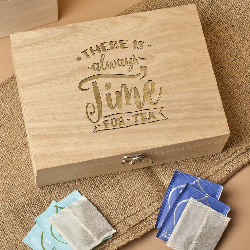 Tea Box - Bepoke Tea Storage Box Or Caddy - Time For Tea Design