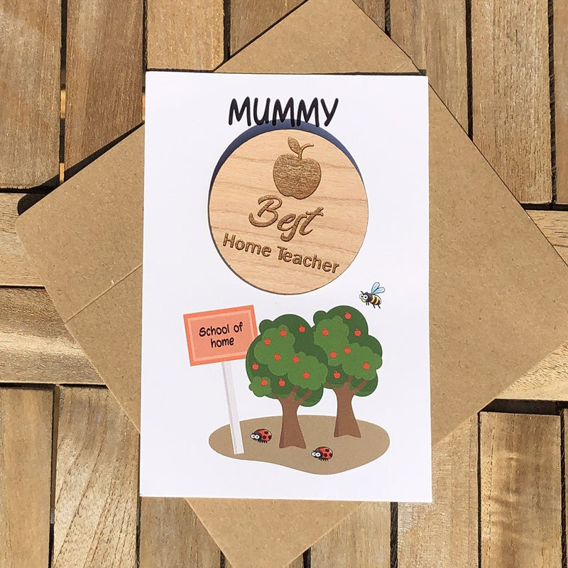 Teacher Token - Personalised Wooden Teacher Token - Apple