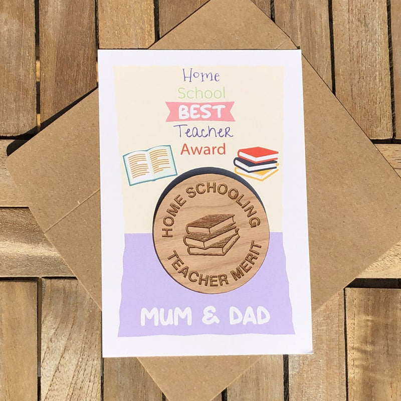 Teacher Token - Personalised Wooden Teacher Token - Books