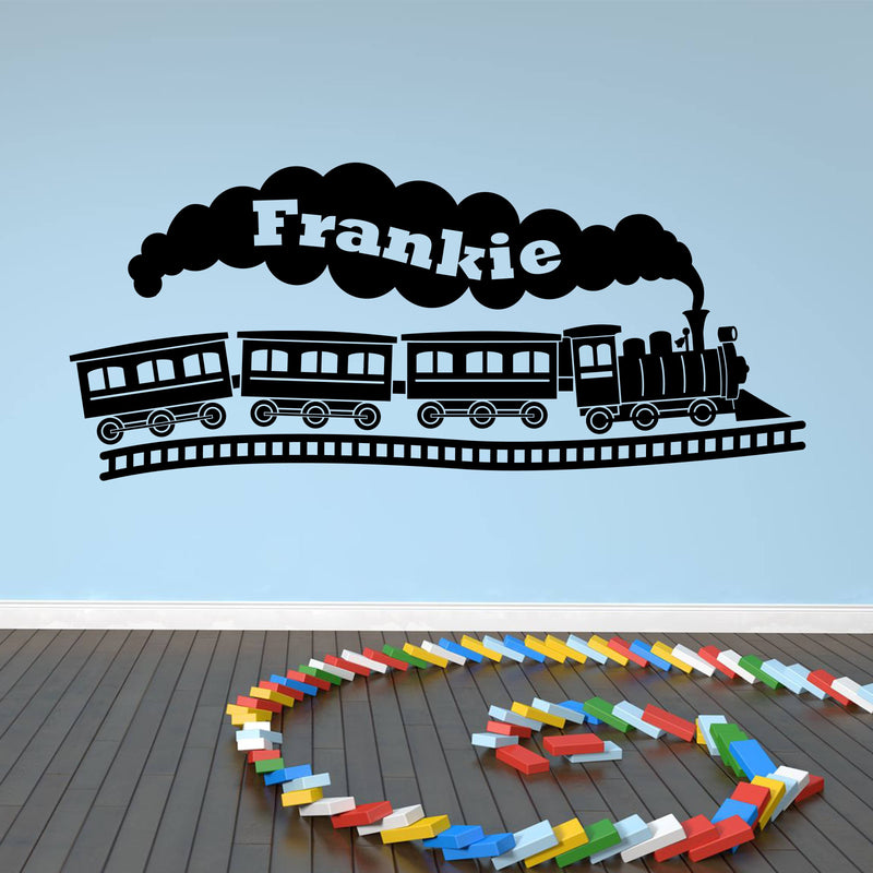 Wall Sticker - Personalised Steam Train Vinyl Wall Art Sticker, Mural, Decal - Any Name