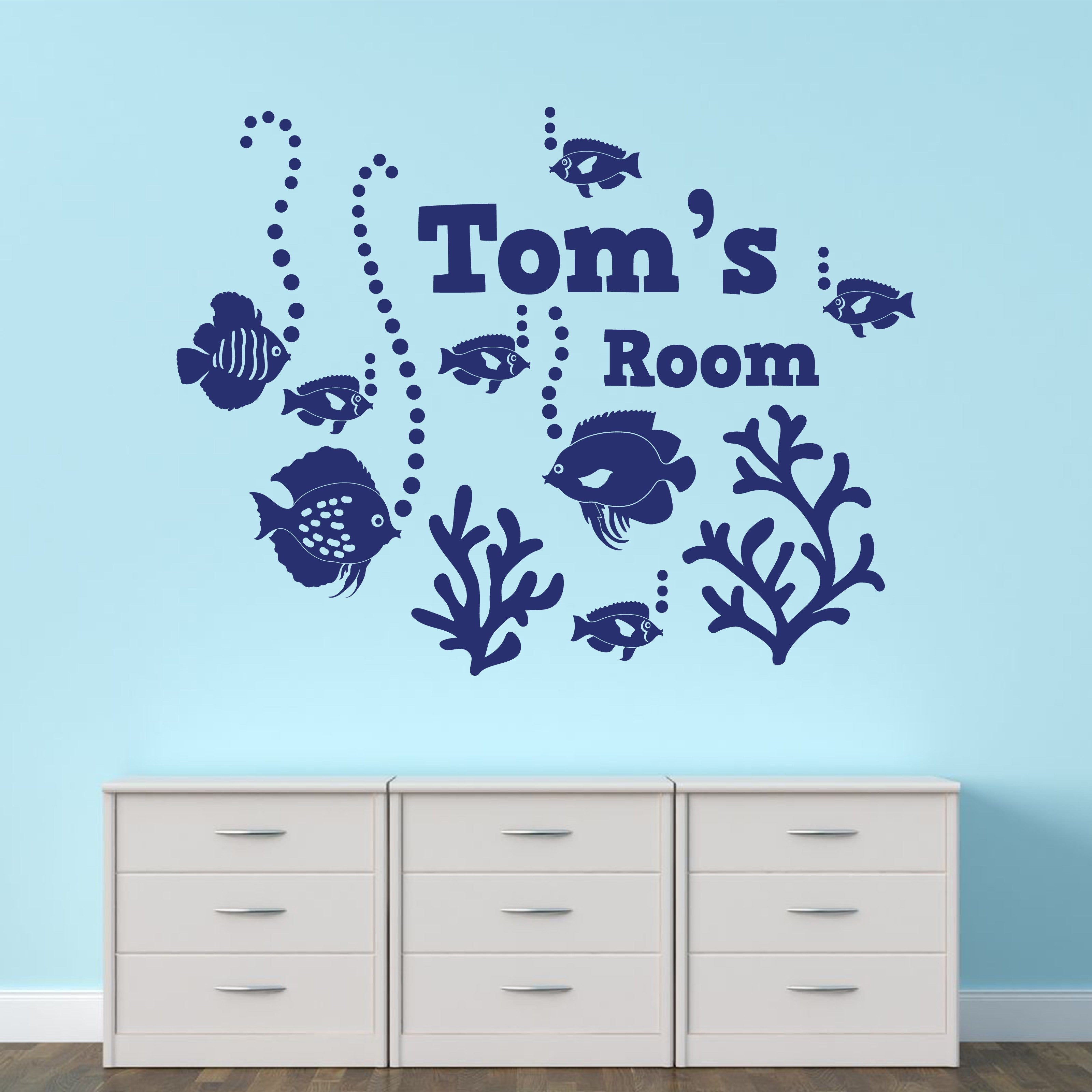 Wall Sticker   Personalised Under The Sea Vinyl Wall Art Sticker, Mural,  Decal   Part 57