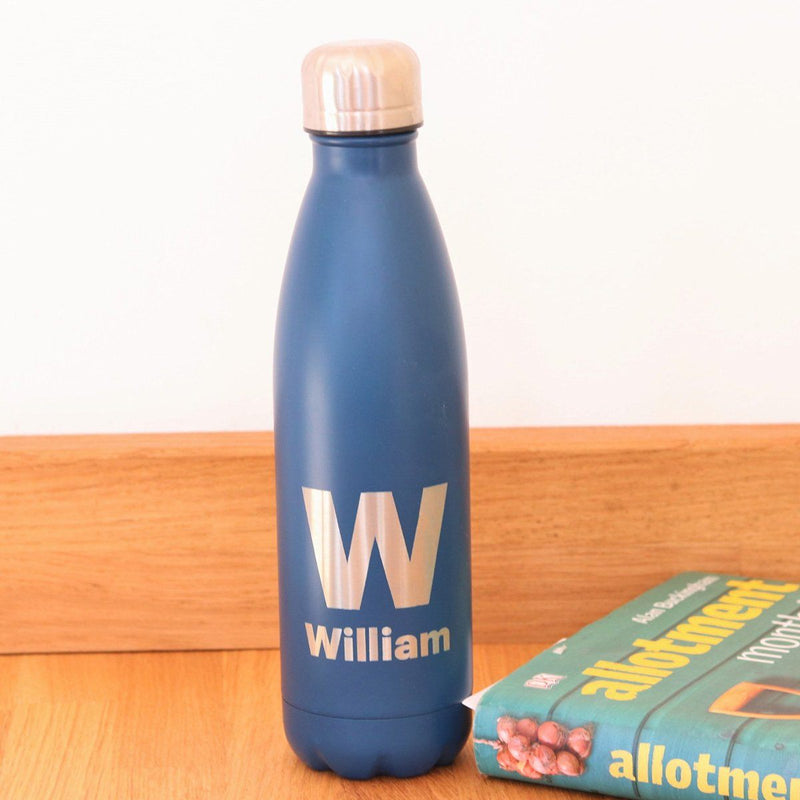 Water Bottle - Personalised Insulated Drinks Bottle - Monogram