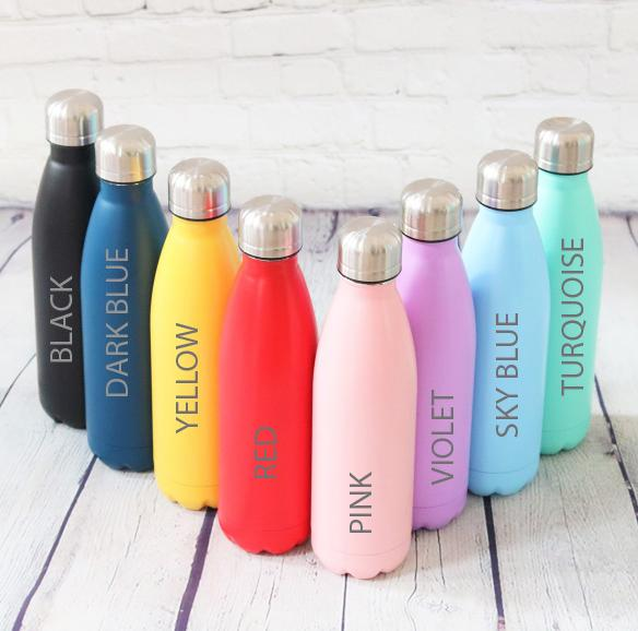 Water Bottle - Personalised Insulated Drinks Bottle - Sports Icon