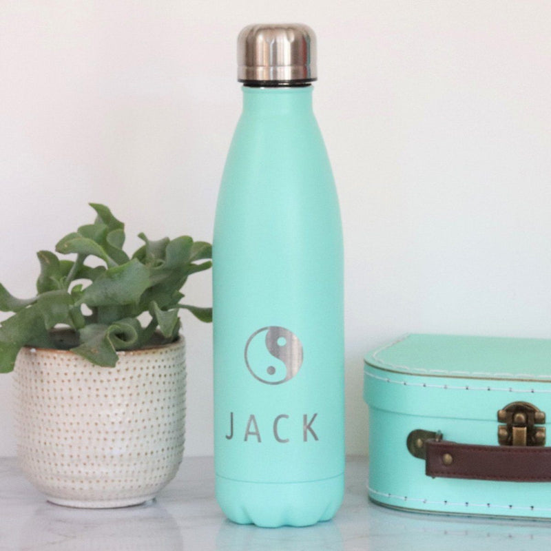 Water Bottle - Personalised Insulated Drinks Bottle - Yoga