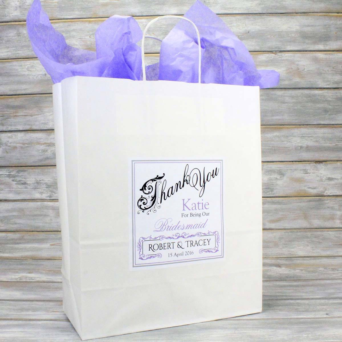 Personalised Wedding Favour Gift Bags, Bridesmaid Page Boy Flower ...