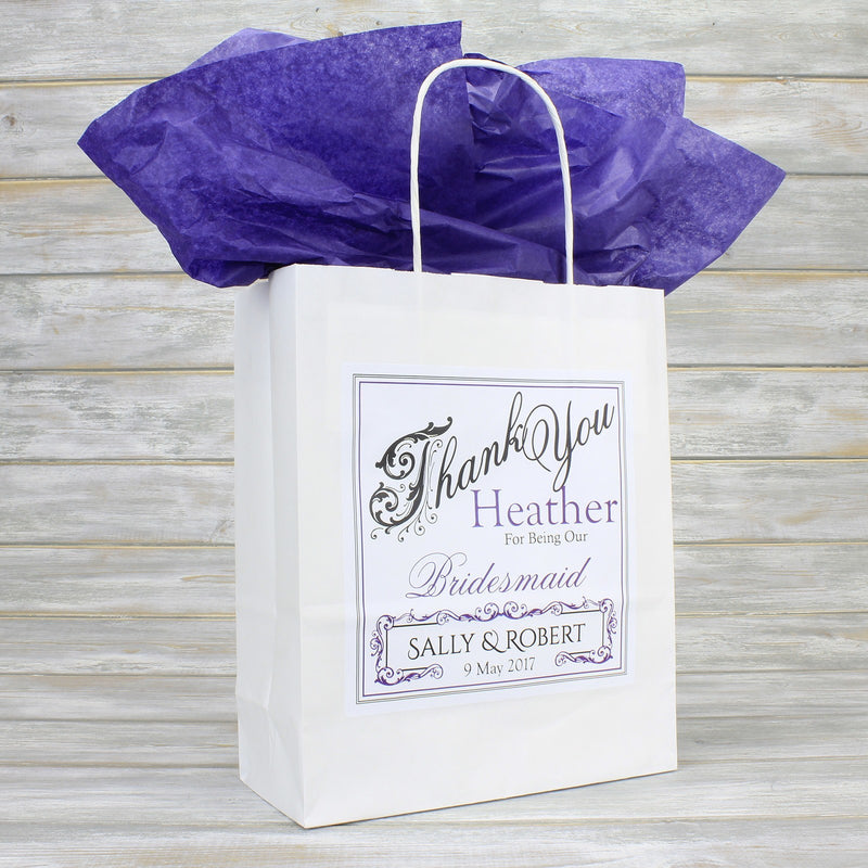 Wedding Favour Bag - Personalised Wedding Favour Gift Bag - Bridesmaid, Usher, Page Boy, Flower Girl