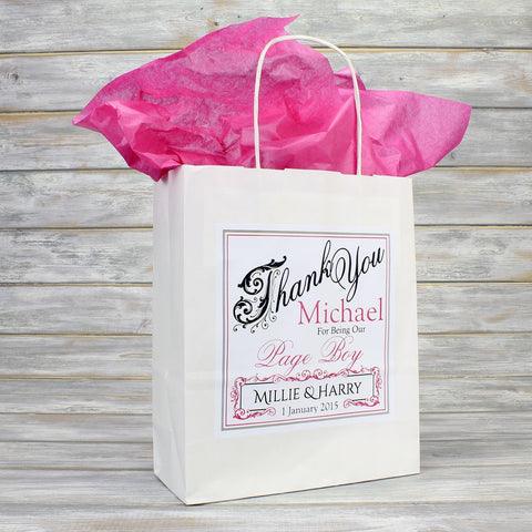Personalised wedding favour gift bags bridesmaid page boy flower girl you may also like negle Images