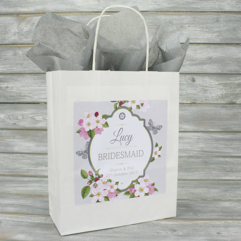 Wedding Favour Bag - Personalised Wedding Favour Gift Bag - Butterfly