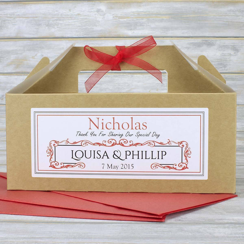 Wedding Favour Box - Personalised Children's Or Guest Wedding Favour Box