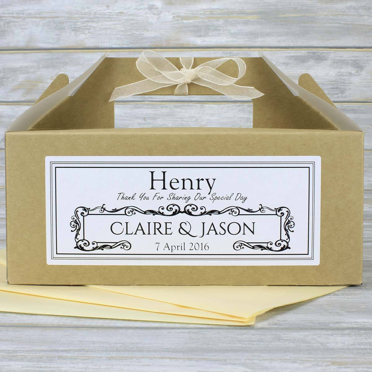 Personalised Kraft Brown Children\'s or Guest Wedding Favour Box ...