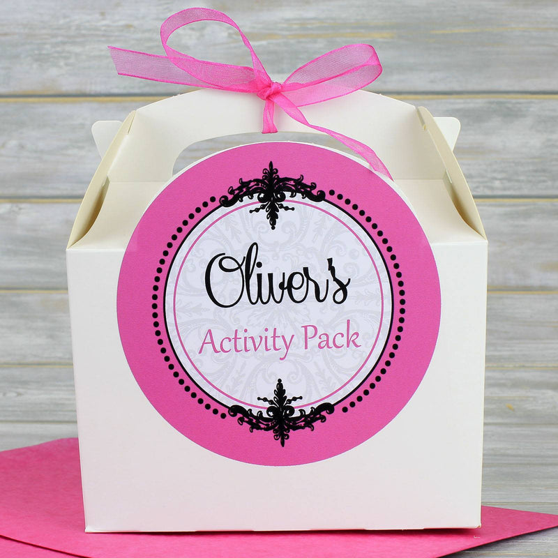 Wedding Favour Box - Personalised White Children's Activity Box Or Guest Wedding Favour