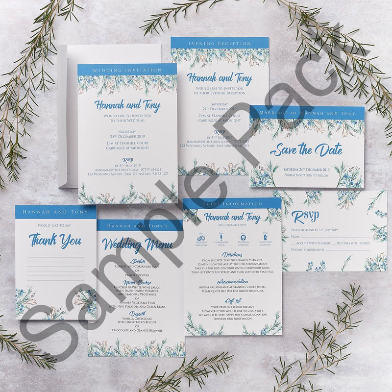 Wedding Invitation - Berries Design Wedding Invitation  - Sample Pack