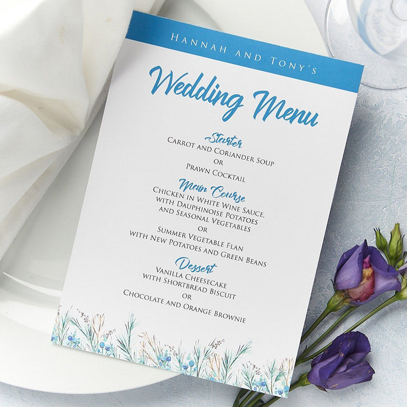 Wedding Invitation - Berries Wedding Menu
