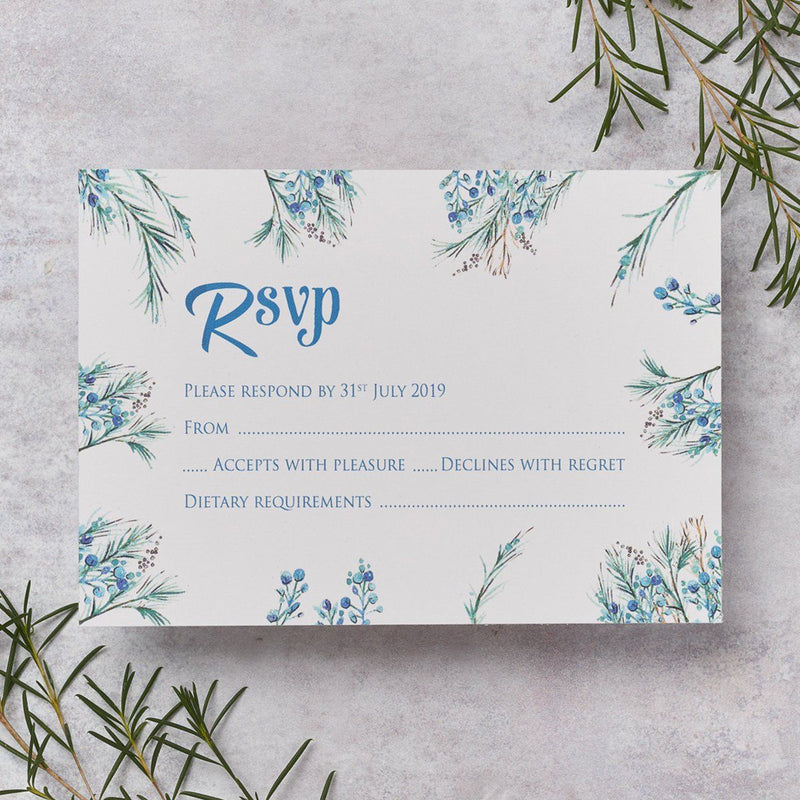 Wedding Invitation - Berries Wedding RSVP