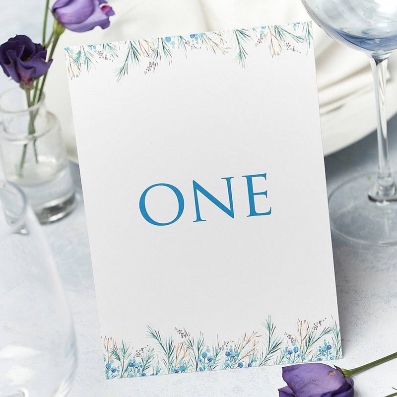 Wedding Invitation - Berries Wedding Table Number