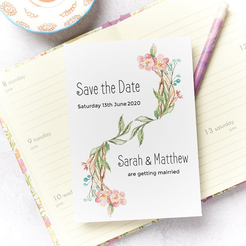 Wedding Invitation - Blossom Wedding Save The Date