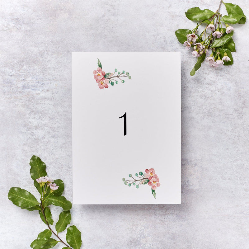 Wedding Invitation - Blossom Wedding Table Number