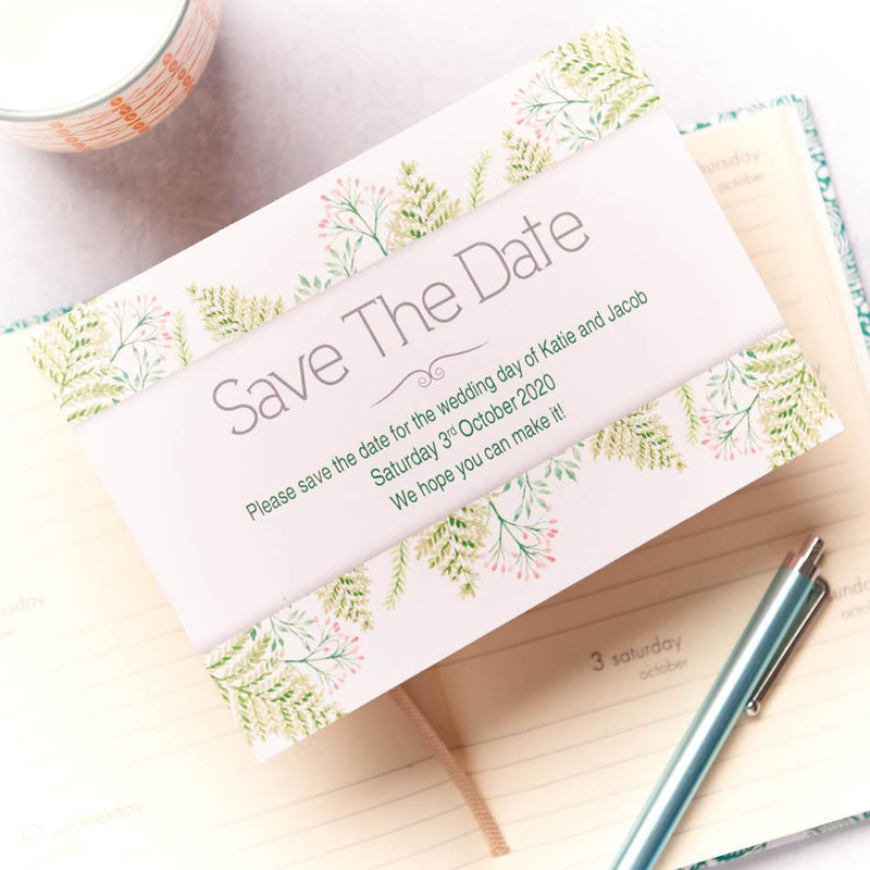 Wedding Invitation - Fern Wedding Save The Date