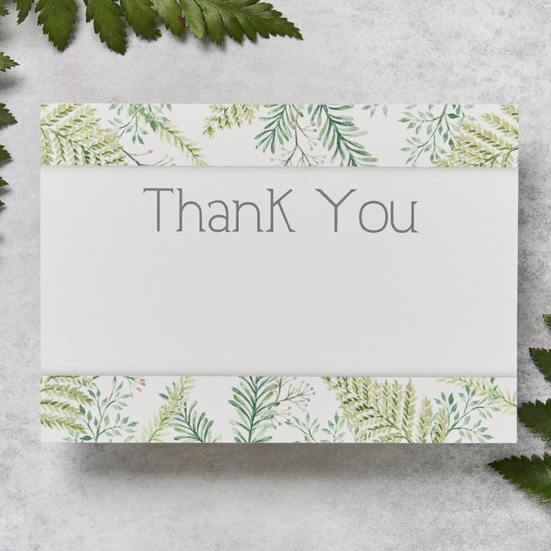 Wedding Invitation - Fern Wedding Thank You
