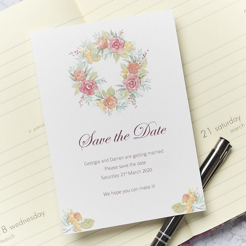 Wedding Invitation - Rose Wedding Save The Date