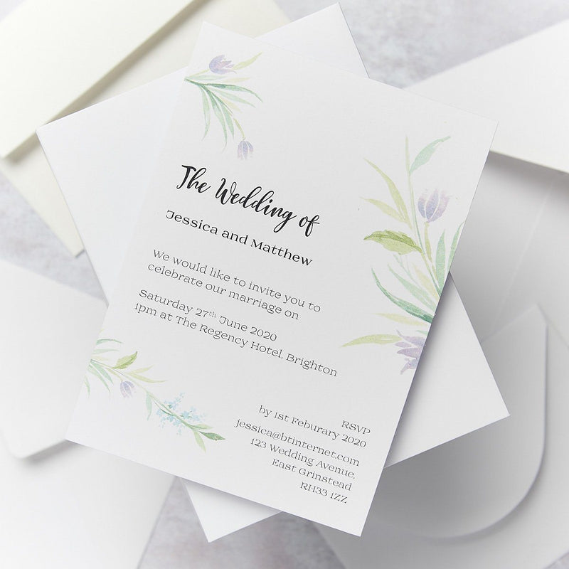 Wedding Invitation - Tulip Wedding Day Invitation