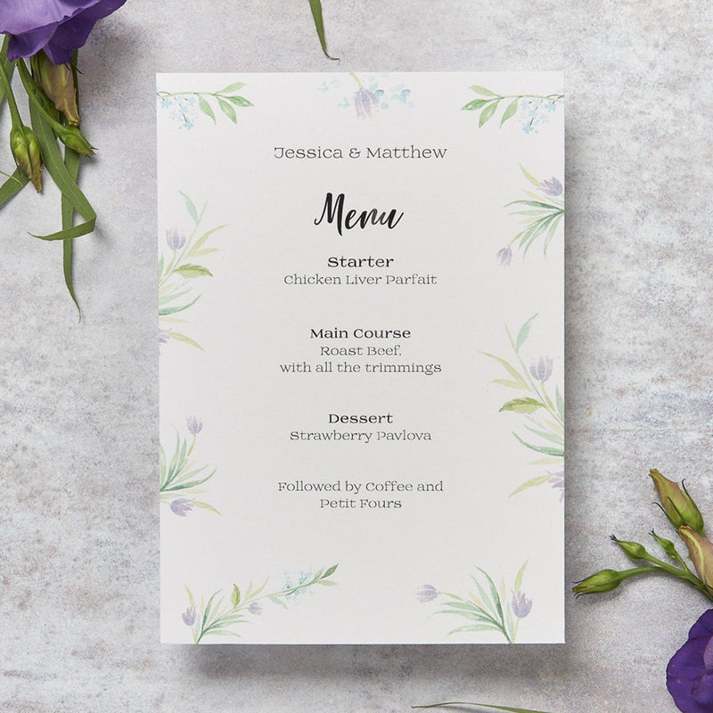 Wedding Invitation - Tulip Wedding Menu