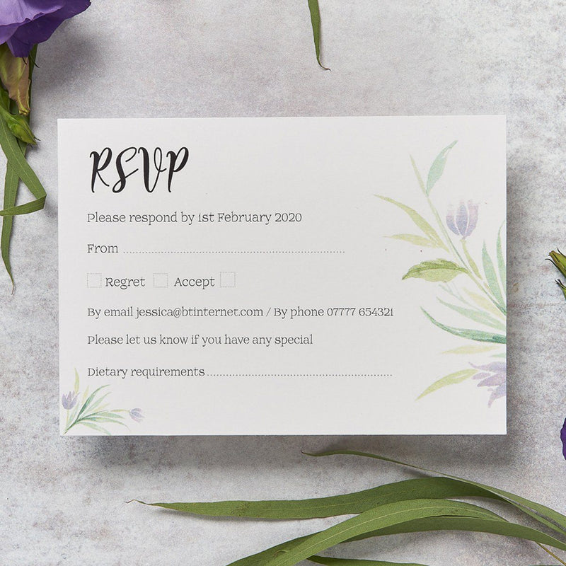 Wedding Invitation - Tulip Wedding RSVP