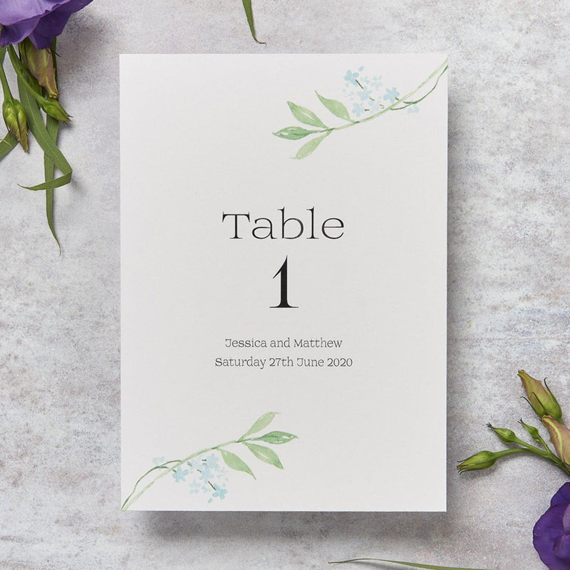 Wedding Invitation - Tulip Wedding Table Number