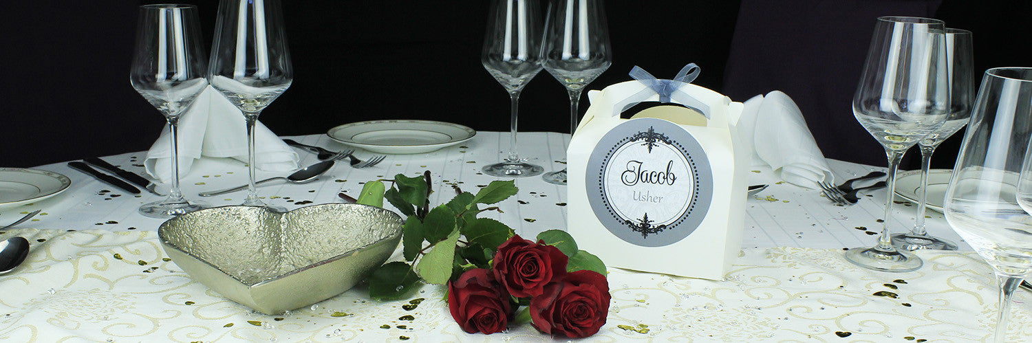 Personalised  Wedding Favour Box - Silver