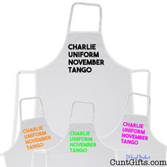 Charlie Uniform Cunt Apron