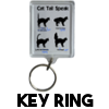 Cat Tail Speak - Keyring