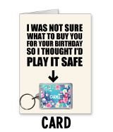 Flower Cunt Card