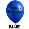 Birthday Cunt Balloon - Blue