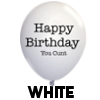 Birthday Cunt Balloon - White