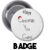 Happy Christmas You Cunt - Christmas Badge