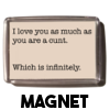 Infinitely a cunt - Magnet