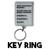 Monday Mornings and Cunts - Key Ring
