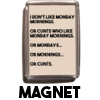 Monday Mornings and Cunts - Magnet