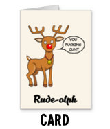 Rude-olph - Christmas Card