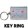 Scrummy Little Love Muffin - Keyring