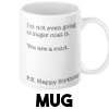 I'm not even going to sugar coat it - Mug