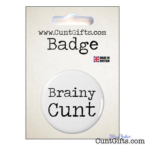 Brainy Cunt - Badge & Packaging
