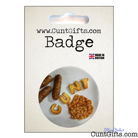 Breakfast Cunt - Badge in Packaging