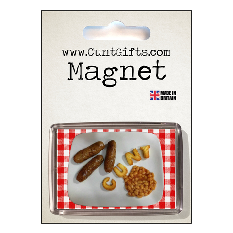 Breakfast Cunt Magnet in Packaging