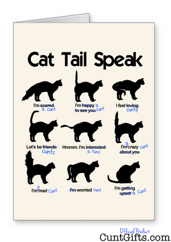 """Cat Tail Speak"" - Greetings Card"