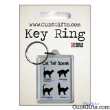Cat Tail Speak - Key Ring in Packaging