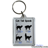 Cat Tail Speak - Key Ring  v3