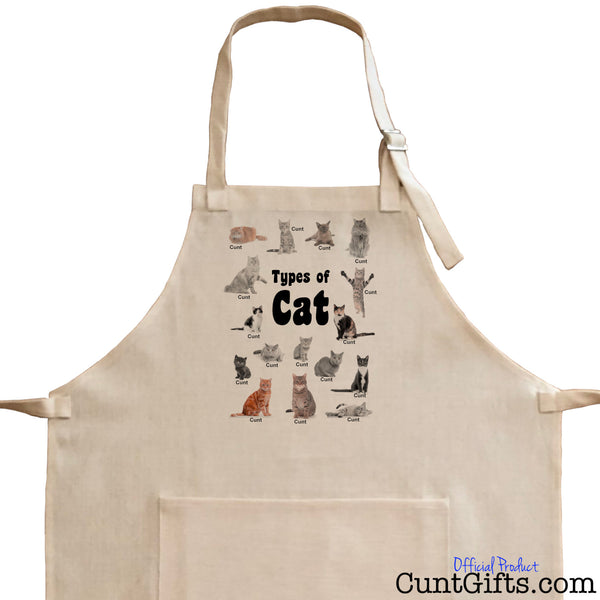 Cats are all cunts - Apron - Close up